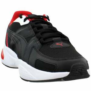 puma ascend lace up mens sneakers shoes casual  black  ebay