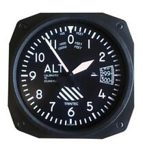 """Aviation Style Wall Clock- 10"""", Altimeter Style, Pilot Cave, Hanger  OFF-0108"""