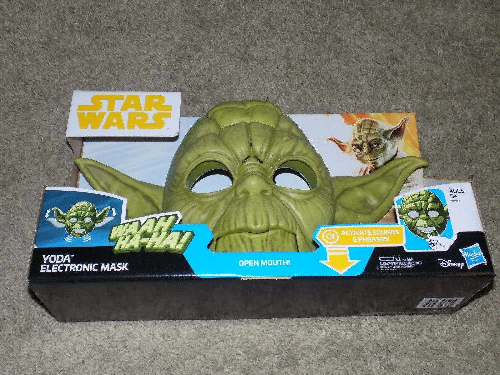 Star Wars Yoda Electronic Mask Activate Sounds & Phrases
