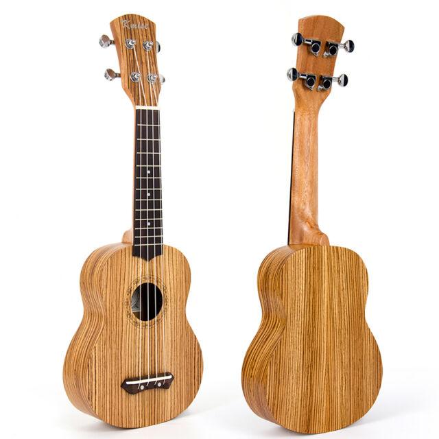 kmise 21 inch soprano ukulele uke hawaii guitar musical instruments zebrawood for sale online ebay. Black Bedroom Furniture Sets. Home Design Ideas