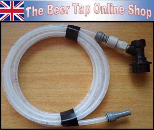 Flexible 5//16 OD Beer Line 4mm ID JG 3//8 Stem /& Ball Lock Disconnect Corny Keg