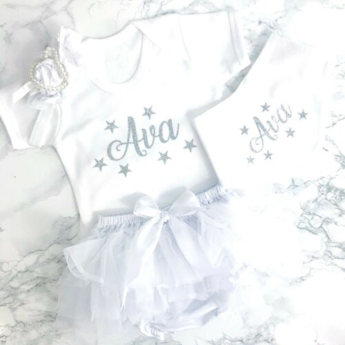 Headband Personalised Coming Home Outfit Newborn Baby Girls Outfit Pants Bib