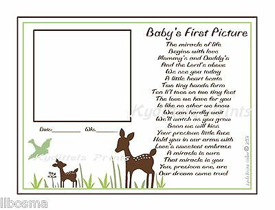 Willow Organic Deer BABY Ultrasound 1st Picture The Miracle You Are Poem© Print