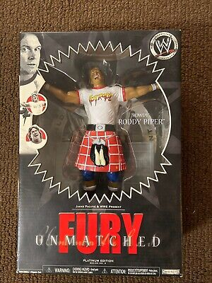 WWE Fury Unmatched Series Roddy Piper Action Figure Jakks Signed by Colt Toombs