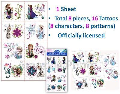 Disney Frozen Temporary Tattoo birthday Party Loot Lolly Bag Favor Supply filler