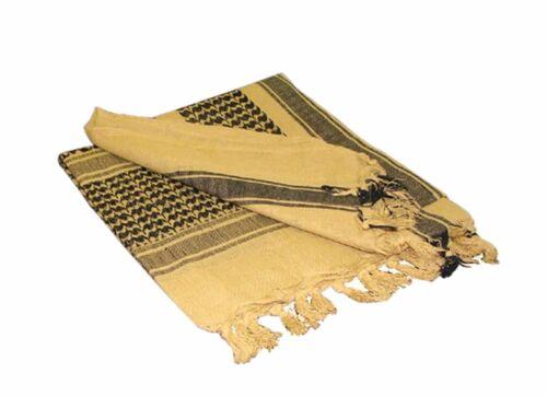 Militare Keffiyeh Arabo Scialle 100/% Cotton Shemagh Copricapo Colore Scelta