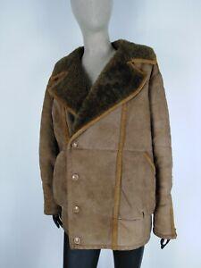 SHEARLING-MONTONE-SHEEPSKIN-Cappotto-Giubbotto-Jacket-Tg-50-Donna-Woman