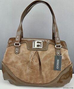 Details about NEW Schick Premium Bag Guess Grosseto Totes Womens Taupe NEUF originally show original title
