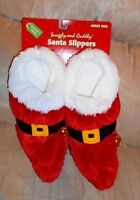 Dandee Christmas Santa Elf Snuggly And Cuddly - Adult Slippers Size M (7-8) -new