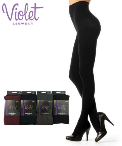 Ladies Burgundy Sheer Tights Double Pack 70 Denier Shapewear Women/'s Pantyhose