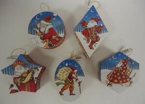 Mary-Engelbreit-Christmas-Ornament-Hanging-Gift-Boxes-SET-of-5