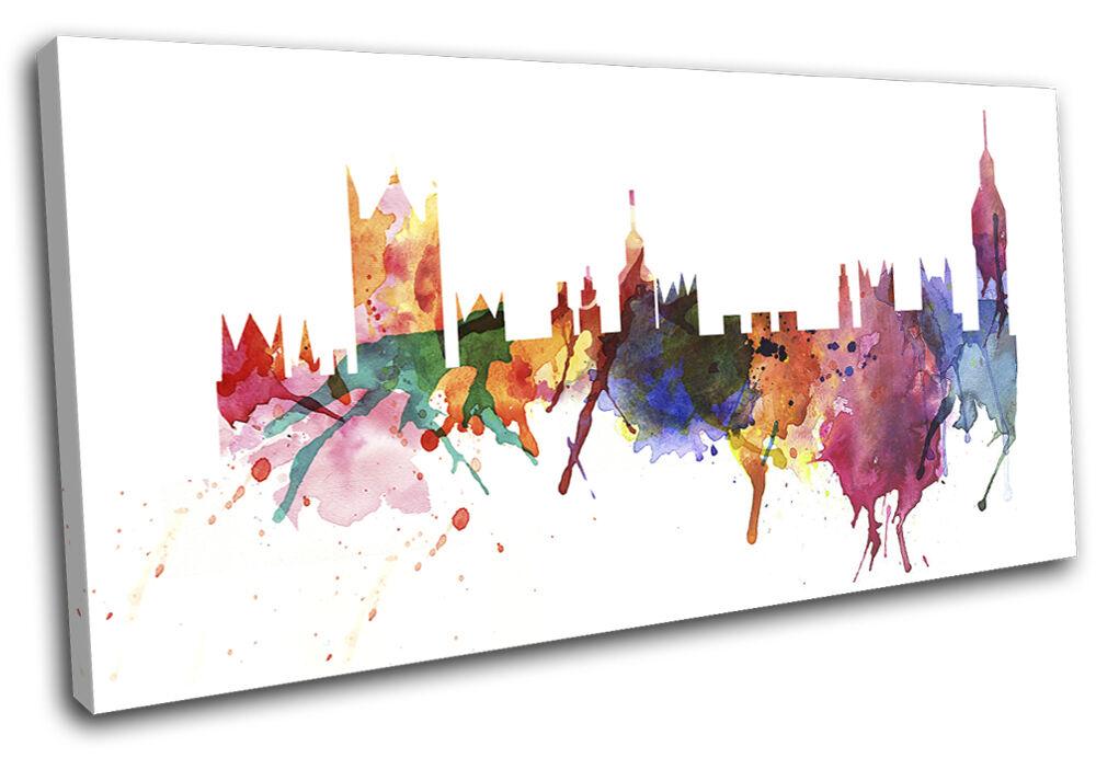 London Watercolour Abstract  City SINGLE TOILE murale ART Photo Print