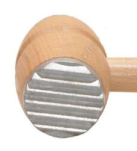 Martillo de carne de madera con puntas de metal-Mallet Filete desmenuzadora tradicional sólido