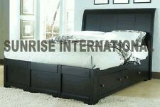 Artistic  Wooden Indian King Size Double Bed with 4 storage drawers !!