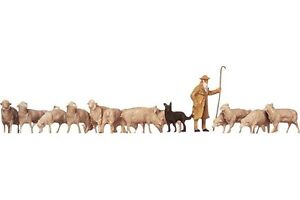 Faller-154001-HO-1-87-Berger-chien-moutons-Shepherd-dog-sheep