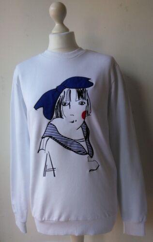 X mouwen hals sweatshirt katoen Aizel Katya Uk8 ronde grafische 10 Dobryakova met lange q6SwTEw0