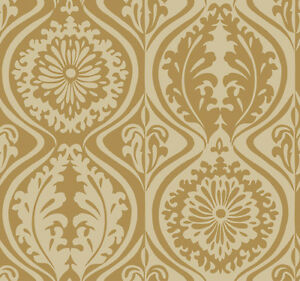 image is loading nn4084 contemporary damask metallic gold wallpaper - Contemporary Damask Wallpaper