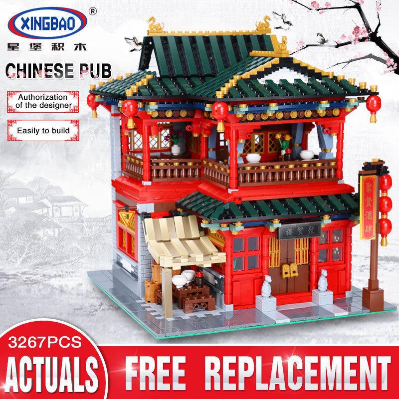 XingBao 01002 3267Pcs MOC Creative Series The Beautiful Tavern Set Building Toys