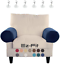 2 pc anti-slip spandex stretch fabric sofa armrest cover set recliner,armchair,c