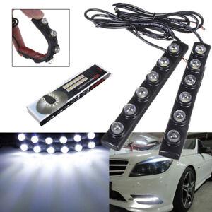 2pcs-6-LED-Soft-Strip-Daytime-Running-Light-DRL-Auto-Car-Eagle-Eye-Fog