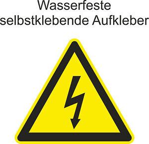 Hinweiss-Aufkleber-Warnung-high-voltage-Hochspannug-Gefahr-Sticker-ab-5cm-Uv-fest