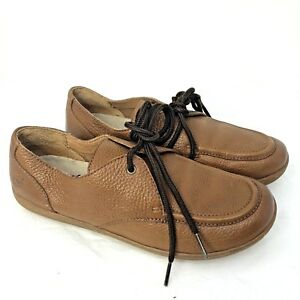 9e6792be9c07 Details about Born Brown Leather Loafers Lace Up Oxford Comfort Shoes Mens  7.5
