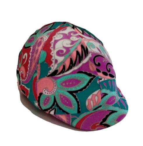 Horse Helmet Cover Paisley Lycra AUSTRALIAN  MADE
