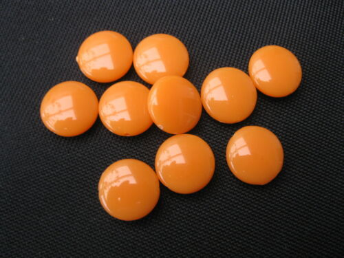 """10 Acrylperlen /"""" Diskus /"""" 16mm orange Perlen 11294"""