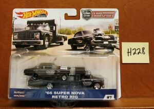 HOT WHEELS 2019 TEAM TRANSPORT CAR CULTURE /'66 SUPER NOVA RETRO RIG BLACK VHTF!