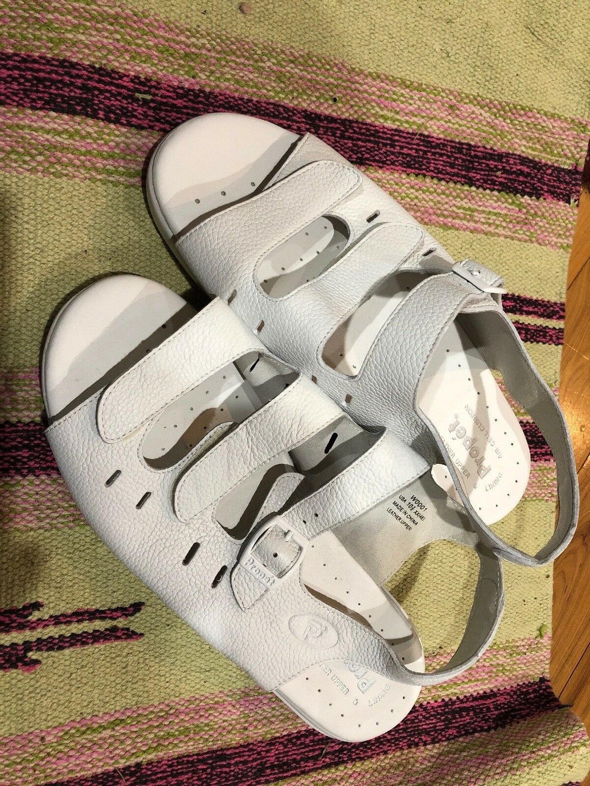 Propet Propet Propet para mujeres W0001 blancoo Brisa Walker Sandalias Zapatos Talla 10.5 4E XX amplia  los nuevos estilos calientes