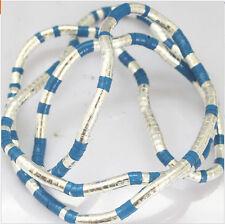 5mm 90cm blue Iron Flexible Bendy Snake Bendable Necklace,6pcs/pack
