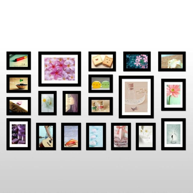 Wall Hanging Art Home Decor Modern 20 Pcs Picture Photo Frame Set 56231
