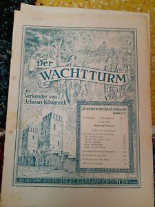Der Wachtturm 1.Juli 1946 Bibelforscher Zeugen Jehovas - Lindau, Deutschland - Der Wachtturm 1.Juli 1946 Bibelforscher Zeugen Jehovas - Lindau, Deutschland
