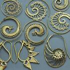 tribal cuivre Boucles d'oreilles spirale crochet Gypsy Bohémien Ethnique