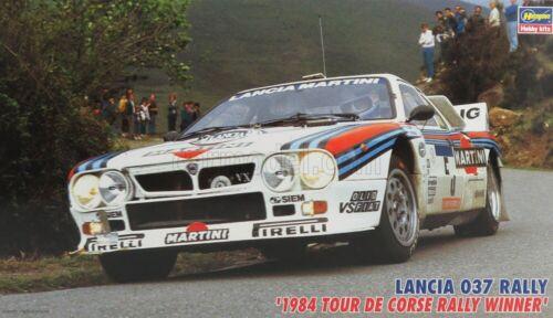LANCIA 1//24 HASEGAWA 037 TEAM MARTINI RACING N 5 WINNER RALLY TOUR DE CORSE