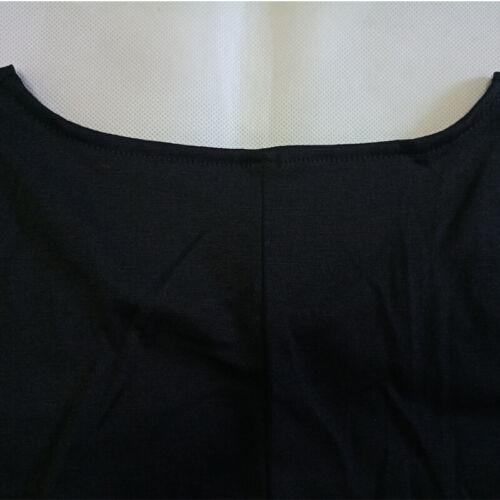 Femmes lâche manches longues à encolure ras-du-cou plissé Pullover Tops T-shirt Slim Robe