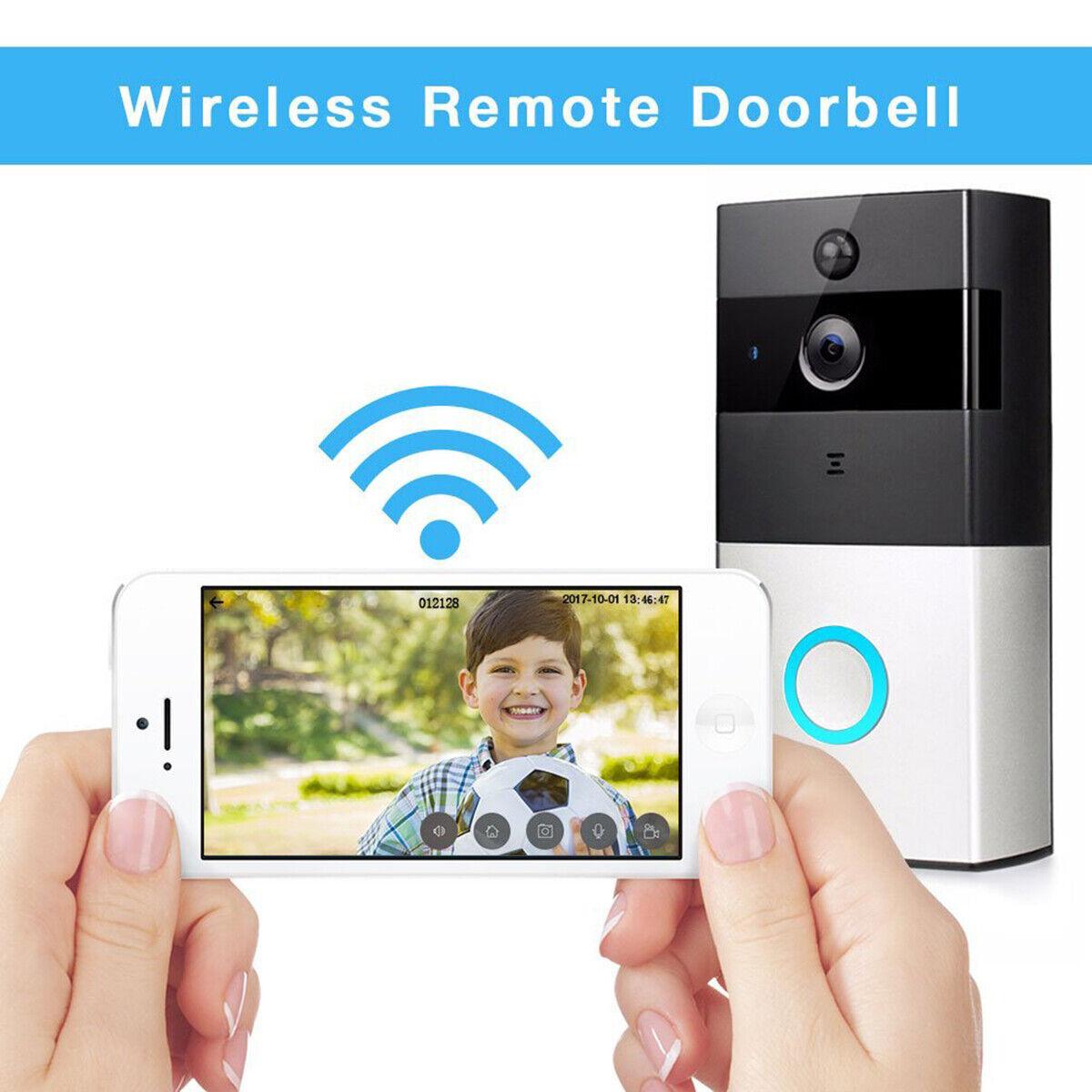 Tivdio Wi-Fi permiten Video Timbre inalámbrico con timbre de interior y Cámara hablar y video
