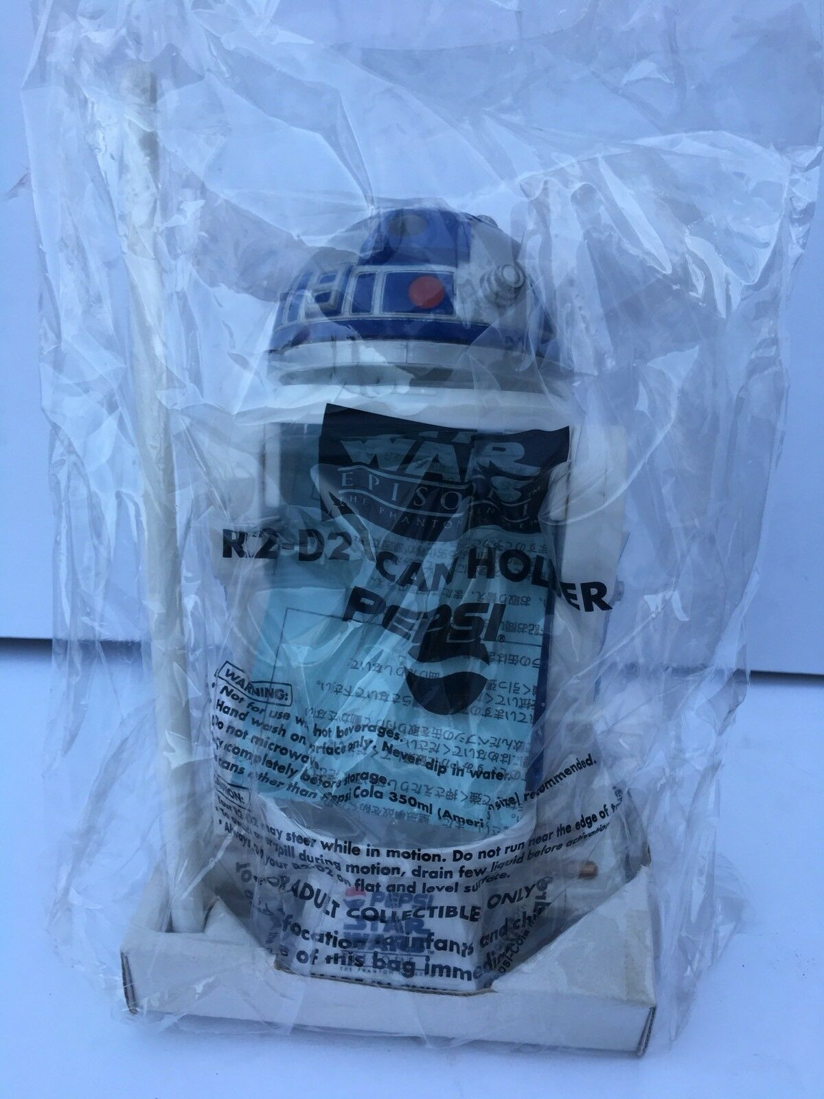 STAR WARS Episode 1 R2-D2 Pepsi Can Holder From Japan RARE