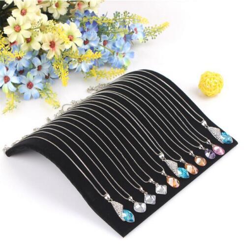 Samt Halskette Kette Anhänger Display Schmuck Veranstalter Ständer Halter 4H