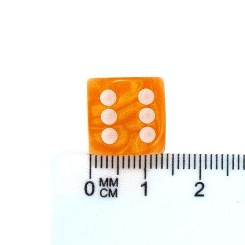 -14 mm D6 Dés-Wargame AOS WARHAMMER 30k 40k Blanc PEARL Orange