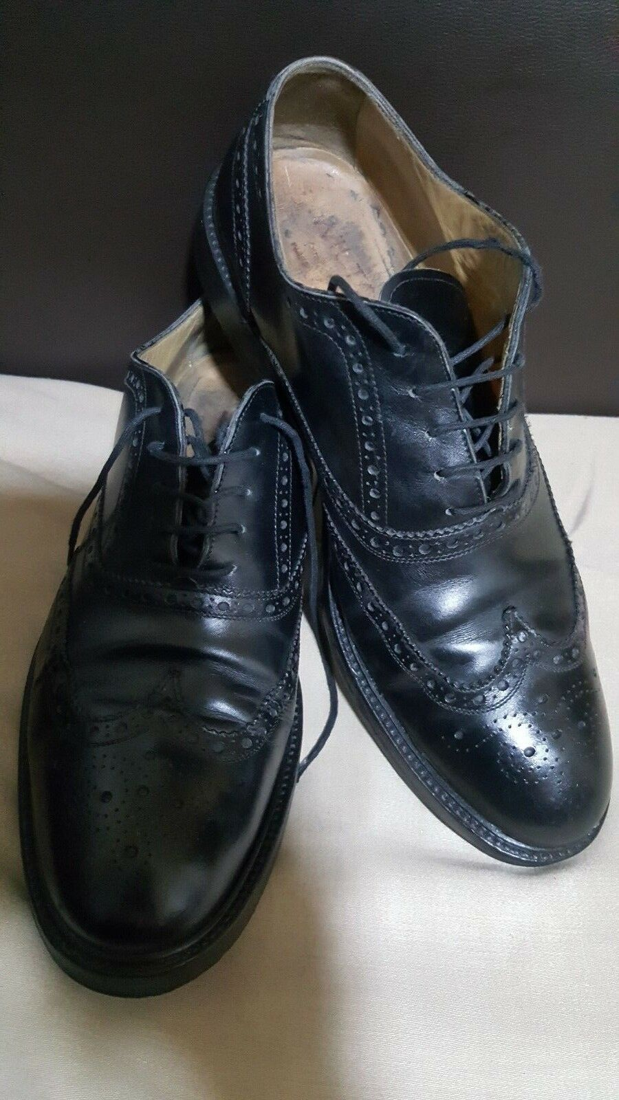 J. WILTON Italian Classic lace-up, Black Leather Men's shoes -size UK 9  EU 44-