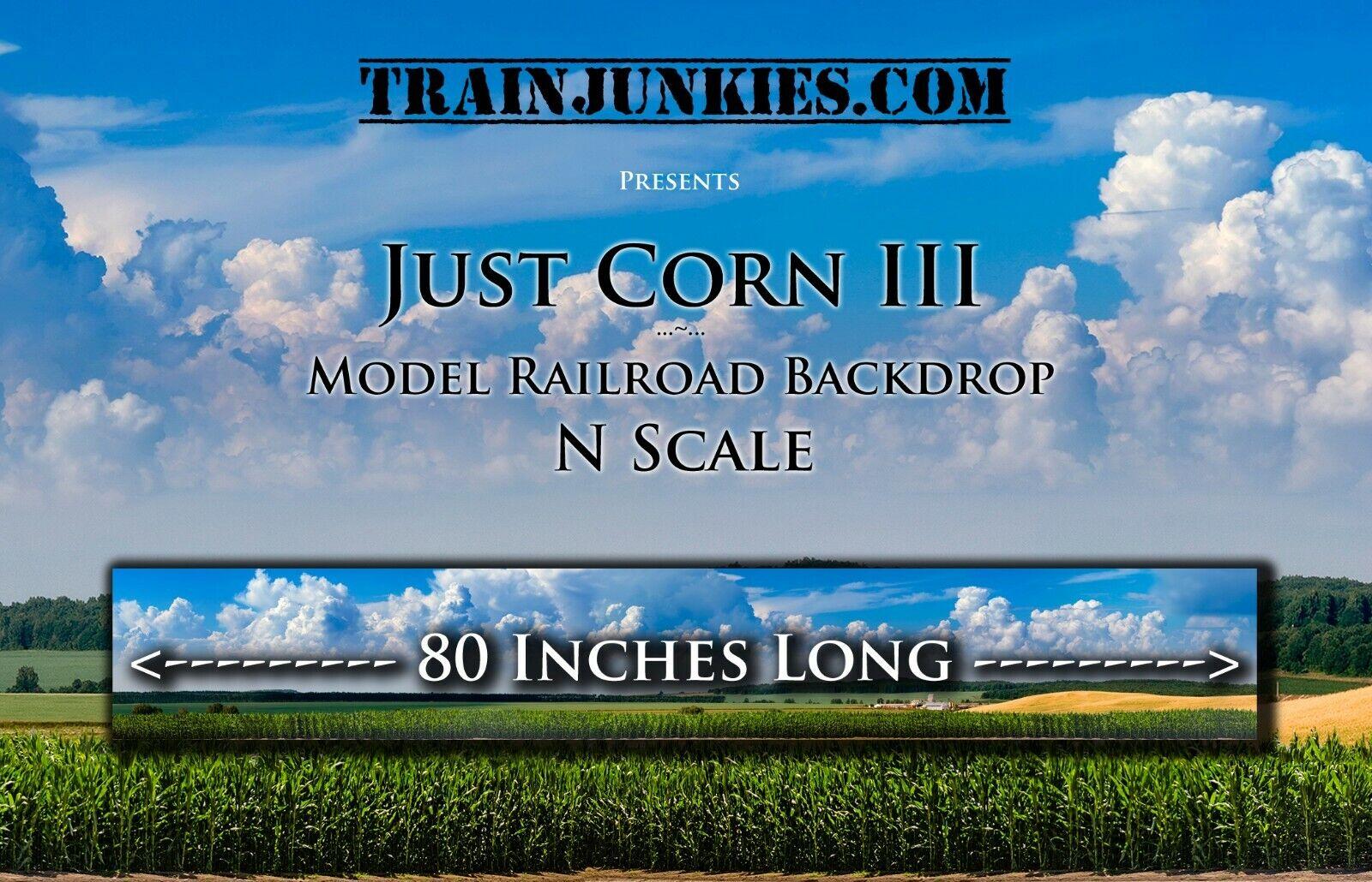 Train Junkies N Scale Just Corn III modellolo Railstrada Backdrop 12x80