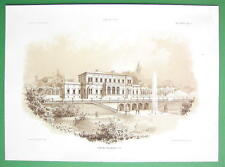 ARCHITECTURE PRINT 1860s : Germany Villa at Frankfurt by Architects Gropius