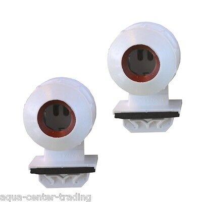 2 Douilles étanches à clipser  pour tube néon T8 Φ 26 mm