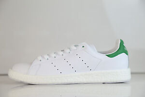 9979a9bee80 Image is loading Adidas-Originals-Stan-Smith-Boost-White-Green-BB0008-