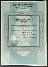 NSU-Neckarsulm, AUDI NSU AUTO UNION AG,  26.04.1969 - Genuss-Schein