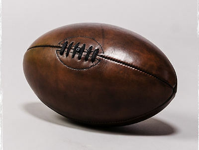 Picture Poster Sport Art Football Framed Print Vintage Leather Rugby Ball