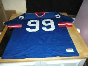 Details about vintage buffalo bills sand knit jersey adult xl throwback marcell dareus blue
