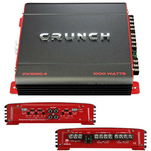 NEW Crunch PX Series 1000w 4CH Amplifier PX10004