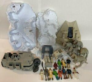 VTG-Star-Wars-Toy-Lot-Original-Parts-Pieces-Figures-Vehicles-1980s-Hoth-Junkyard